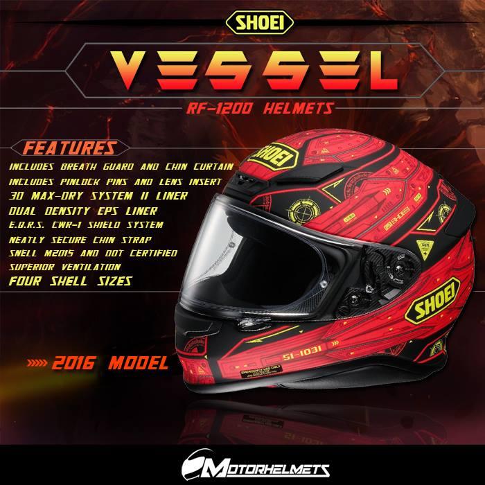 Shoei Vessel RF-1200 Helmets