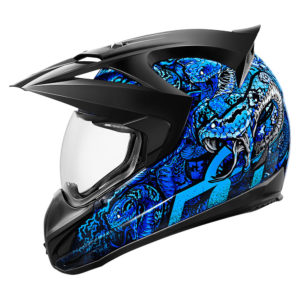 Icon Variant Cottonmouth Blue Side Helmet