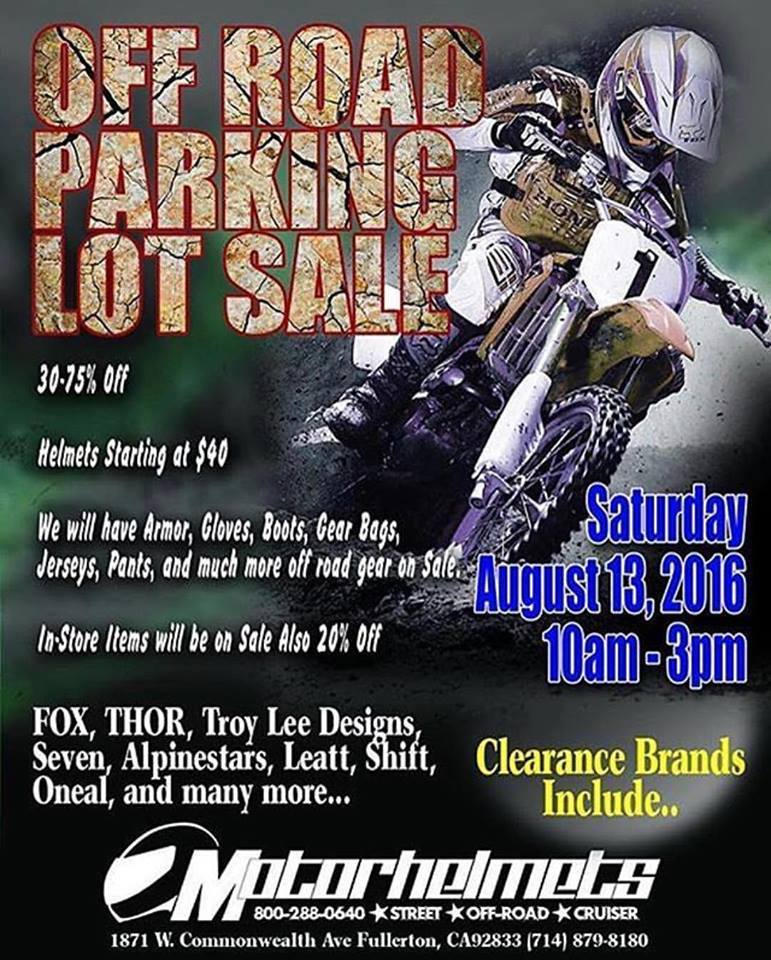 parking lot Sale